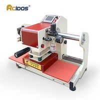Wholesale Hot Stamp Marking - HQD-1515 RCIDOS pneumatic double station heat transfer press 15*15cm,220V T-shirt marks Hot stamping transfer printing machine
