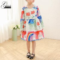 Wholesale baby holiday dresses - Girls Dress Winter Children Clothing Girls Dress Cartoon Kids Clothes Princess Dresses Holiday Party Wedding Baby Toddler Dresses