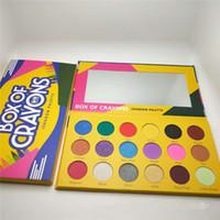 ingrosso il miglior occhio compone-Box of Crayons Palette per ombretti 18 colori Makeup Shimmer Pigmented Matte Best Make up Ombretto Palette per iShadow