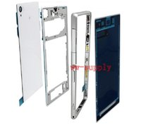 Wholesale Xperia Z1 Battery - New Housing For Sony Xperia Z1 L39H C6902 C6903 Full Housing Front Chassis + Middle Frame Back Battery Case + Port Cover + Sticker