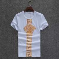 Wholesale face t shirt - 2018 Luxury Men Summer Shirt Designer T Shirts For Men Fashion Brand Tops Face Printed Short Sleeve Clothing Crew Neck Tee M-3XL