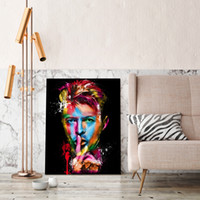 Wholesale quality poster printing - Modern Home Decor Famous Portrait Canvas Wall Poster David Bowie Painting Pictures for Home Decoration High Quality Artwork