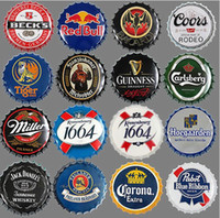 Wholesale vintage tin beer signs for sale - Group buy 35cm Beer Cap Wall Art Vintage Metal Tin Signs For Wall Decoration Wall Art Plaque Vintage Metal Signs Tin Home Decor KKA6141
