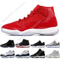 ingrosso nero 11s-11 11s Cap and Gown Prom Night Men Scarpe da pallacanestro Platinum Tint Gym Red Bred PRM Heiress Black Stingray Barons Concord mens sneakers sportive