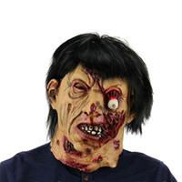 ingrosso decorazione in lattice-Halloween Latex Horror Raging Zombie Devil Skull Copricapo Maschera Decor Scherzo Mascherata Adulto Fantasma Faccia Blame Maschera Scary Costume