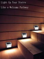 декоративное солнечное освещение оптовых-Солнечный приведенный в действие свет стены светильника ночи датчик движения PIR декоративный сад напольный водоустойчивый вел освещение
