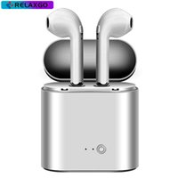 Wholesale charger retail packing - I7 I7S TWS Bluetooth Headphone with Charger Box Twins Wireless Earbuds Earphones for iPhone X IOS iPhone Android Samsung with Retail Packing