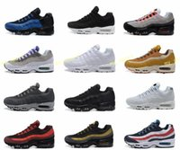 Wholesale leather ship - New Air Ultra 20th Anniversary 95 OG Sports Shoes Sports Running Shoes For Men 95s Trainer Tennis Sneakers Free Shipping 40-46