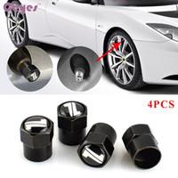 Wholesale toyota camry badges - Car tire valves for Toyota chr camry auris yaris prius avensis corolla NOAH Badge wheel tyre stem air caps car styling 4pcs lot