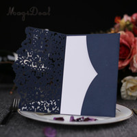 Hot selling 10 Sets Wedding Lace Flower Invitations Card Hollow Invitation Greeting Card