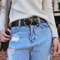ingrosso mucca punk-Uomo Donna Unisex Designer Vera Pelle di Cuoio Punk Harajuku Big O Rin Cintura per uomo in metallo esagerato