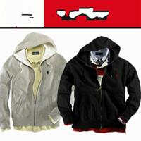männer hoodies niedrige preise großhandel-Großhandels-Freie niedrige Preis-Anlieferungs-Männer Reißverschluss-Wolljacke-Sport-mit Kapuze Hoodies-Art- und Weisecoats-Jacken-Sport-Sweatshirts Hoodies-Größe