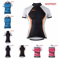 Wholesale Kuota Clothing - KTM FDJ KUOTA team women Cycling Short Sleeves Sleeveless Jerseys Vest Breathable Bike Clothing Quick-Dry Ropa Ciclismo F0201