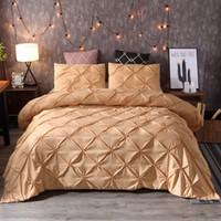 gelbe königin bettwäsche gesetzt großhandel-GELBE Schlafzimmer Tröster Bettwäsche-Sets Bett Twin / Full / Queen / King Size Bettbezug Bett Quilt Bettwäsche Set Bettwäsche Bettbezug