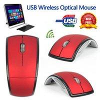 dobrar o mouse venda por atacado-Rato Sem Fio 2.4G USB Nano Receptor Mouse de Computador Dobrável Dobrável Óptico Ratos Receptor USB para PC Portátil Computador Escritório