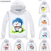 Großhandel Doraemon Junge Mädchen Cartoon Pullover Plus Samt Dickes Sweatshirt Kind Winter Langarm Hoodie Anime Print Schwarz Pullover Von Sunmye,