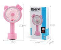 Wholesale china portable charger for sale – best 2018 new usb rechargeable battery fan Portable Office Mini Charger Fan Handheld Dual use Cartoon Desk Lamp Fan