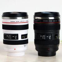 Wholesale mugs camera for sale - Group buy Camera Lens Mug Cups ml Creative Portable Stainless Steel Tumbler Flask Wine Coffee Mug cups Travel Vacuum Generation