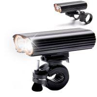 usb del manillar al por mayor-USB recargable bicicleta luz 2000LM MTB seguridad linterna LED bicicleta manillar luces delanteras +2 Mount Holder ciclo accesorios