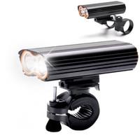 guidão usb venda por atacado-USB Recarregável Luz Da Bicicleta 2000LM MTB Lanterna de Segurança LED Bicicleta Frente Guiador Luzes + 2 Monte Titular Acessórios Do Ciclo
