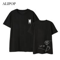 Wholesale Birthday Shirt Women - ALIPOP Kpop BTS Love Yourself Birthday Album Shirts Hip Hop Casual Loose Clothes Tshirt T Shirt Short Sleeve Tops T-shirt DX549