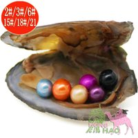 Wholesale surprise gift for girls online - 30 pieces shwater shell pearl oyster individually vacuum packed pearls pearl mysterious surprise love wish pearl gift for girls