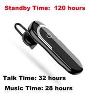 стерео оптовых-Bluetooth наушники Беспроводные сотовые телефоны гарнитура с микрофоном шумоподавления наушники-вкладыши стерео вождение автомобиля наушники для iPhone Samsung