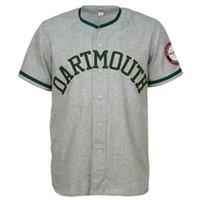 kostenlose college-logos großhandel-Dartmouth College 1959 Straße Jersey 100% genäht Stickerei Logos Vintage Baseball Trikots Benutzerdefinierte Jeder Name Beliebige Anzahl Kostenloser Versand