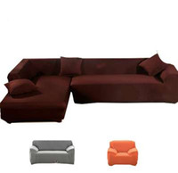 poltrona de móveis venda por atacado-cobre no sofá poltronas sofá capa tecido soild slipcover elástico Canto sofá capa l em forma de mobiliário de estiramento sofá capa