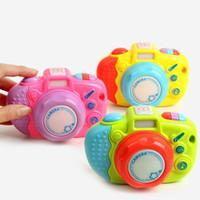 işitme cihazı sesi toptan satış-Çocuk Erken Eğitim Gereçleri Neşeli Kamera Komik Işıldayan Ses Müzik Oyuncak Egzersiz İşitme Bebek Öğretim Yardımcıları 8 ...