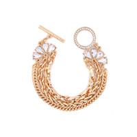 bracelet en diamant uni achat en gros de-Slanw nouveau style de mode Europe et les États-Unis rétro accessoires usine directe dames tempérament alliage diamant bracelet multicouche
