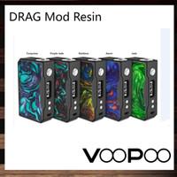 painéis de resina venda por atacado-VooPoo DRAG 157 W TC Mod Com Painel de Resina Alimentado por GENE Chip de 0,91 Polegada OLED Tela de Atualização de Firmware 100% Original