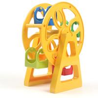 Wholesale plastic toy slides resale online - Blocks set Amusement Park Large Particle Building Blocks Toys Swing Ferris Wheel Slide Assemble Brick Educational Toys Compatible