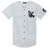 homem de estilo rei venda por atacado-Homem Si Tun 07 Últimos Reis Camiseta de Beisebol Tyga Jerseys Preto Branco Unsex Homens Mulheres Hip Hop Estilo Tees Tops Rap Camisetas