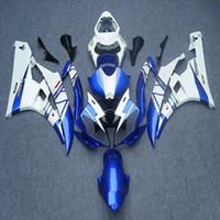 kit de carenado yamaha r6 azul al por mayor-23colors + 5Gifts Moldeo por inyección azul blanco motocicleta Carenado para Yamaha YZFR6 2006-2007 YZF-R6 06 07 YZF R6 ABS kit Carenado del motor