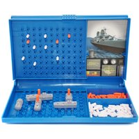 Wholesale sea plastic - Sea Warship Toy The Sea Battle Modle Game Children Puzzle Toys Arder Motion Plastic Free Shipping 10 8yh V
