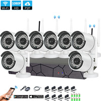 Wholesale 8CH CCTV System Wireless P NVR MP IR Outdoor P2P Wifi IP CCTV Security Camera System Surveillance Kit