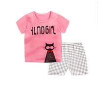 Wholesale Princess Pyjamas - New Kids Girls suits Sets Princess Pyjamas Kids suits Infantil Sleepwear Home Clothing Cartoon Cotton Baby suits