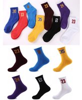 Wholesale Gold Table Numbers - Best Quality Cotton Athletic Teen Team Number Sports Baseball Football Crew Socks Warmers Men's Basketball Numbers Socks Free DHL G500S