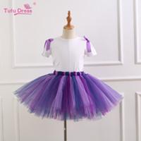 Wholesale girls dancewear sets - Summer Kids Unicorn Tutu Skirt Sets Princess Skirt Pettiskirt Ruffle Ballet Dancewear Children 3pcs Suits Unicorn Dresses M034-5