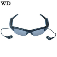 Wholesale Mobile Hot Videos - Hot WD SM07B 1080P Bluetooth Video Camera Glasses Mobile Eyewear Recorder Sunglasses Support DV,MP3 Music ,Phone Calls ,TF Cards