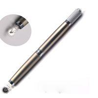 3d rolle großhandel-manueller Stift mit drei Köpfen für Roller-Pin-Nadeln Professioneller manueller Tebori Microblading-Stift 3D-manueller Permanent-Make-up-Augenbrauen-Tätowierungsstift