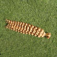 tresses de cheveux humains trame achat en gros de-Vague profonde tressage des extensions de cheveux en vrac de cheveux humains armure de cheveux 100G 613 Bleach Blonde largeur de trame 25cm-65cm