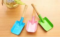 Wholesale colorful garden tools resale online - Mini Gardening Shovel Colorful Metal Small Shovel Garden Spade Hardware Tools Digging Garden Tools Kids Spade Tool