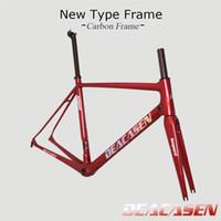 Wholesale Carbon Road Bike Frame 48 - 2018 Lightest Deacasen road bike carbon frame full carbon fiber road bike frame 45 48 50 52 54 56cm T1000 carbon frameset