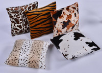 Wholesale zebra bedding online - Hot Plush Animal Zebra Leopard Tiger Texture Printed Throw Pillow Case Sofa Bed Home Decor Cushion Cover Throw Pillow Cove
