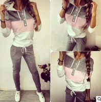 Wholesale Cycling Jersey Gray - New famous brand Women's Sportsuits 2pieces Jogging suit Tracksuits