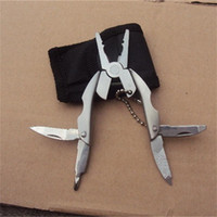 Wholesale edc beetle knife for sale - Multi Function Tool Plier EDC Stainless Steel Pocket Knife Mini Portable Key Chain Buckle Ring Foldable Beetle Tortoise Pliers hr ff