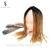 afrika özgür sentetik saç toptan satış-Sentetik Alkalin içermeyen Bukleler Ombre Tığ Örgüler 100% African Kadınlar için Toyokalon Sentetik Saç Uzatma Twist Out Kıvırmak