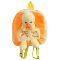ingrosso zaini dei bambini gialli-Dropshipping Trasporto libero 1pcs 12inch Cute Yellow Duck Plush Backpack Soft Animal Stuffed Schoolbag Bambini e bambini Regali